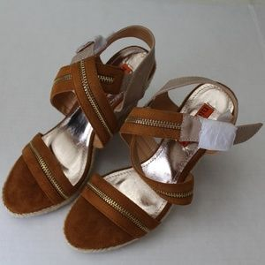 Nicole Lee Wedge Sandal Camel Brown Style WEG20710